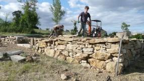 Conception mur en pierre